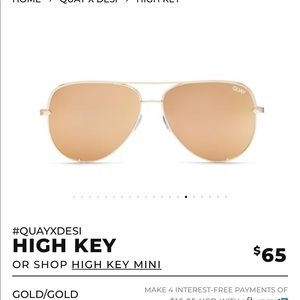 BN Quay x Desi Perkins HIGH KEY in gold/gold